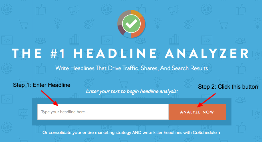 digital marketing tools - coschedule headline ANALYZER